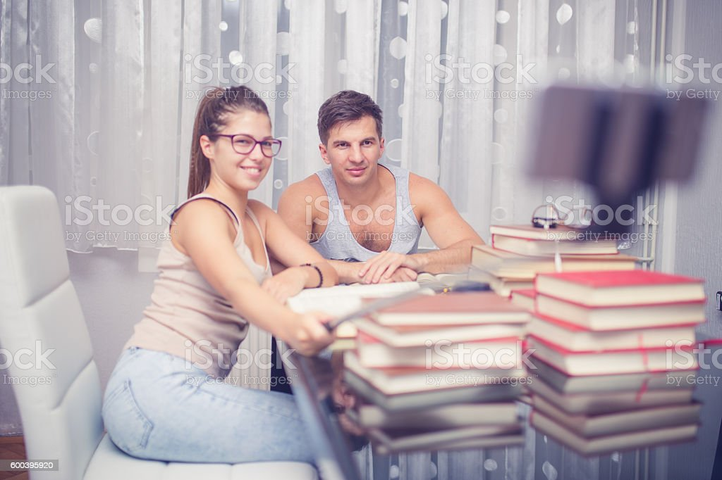 Study and fun stock photo