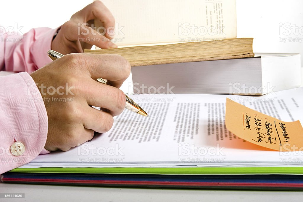 Study and Research royalty-free stock photo
