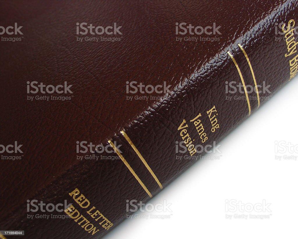 Study Bible (KJV) stock photo