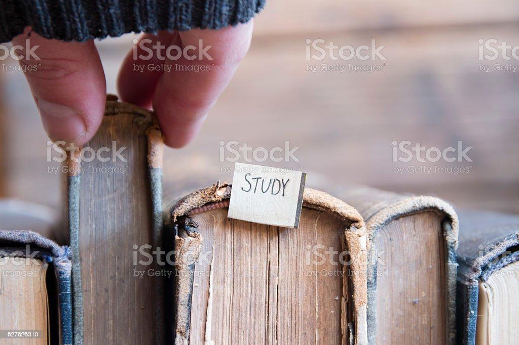 study concept, soft focus, toned stock photo