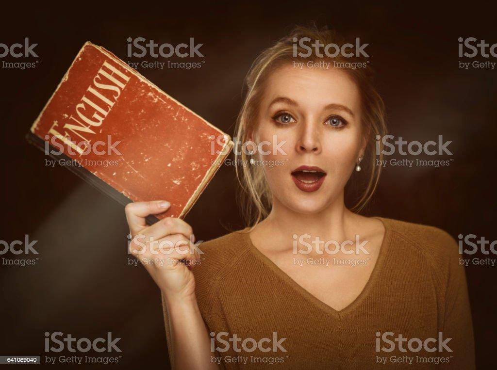 study english language concept stock photo