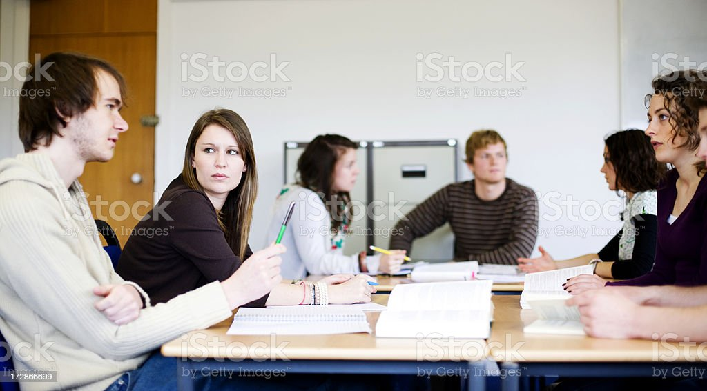 Study group royalty-free stock photo