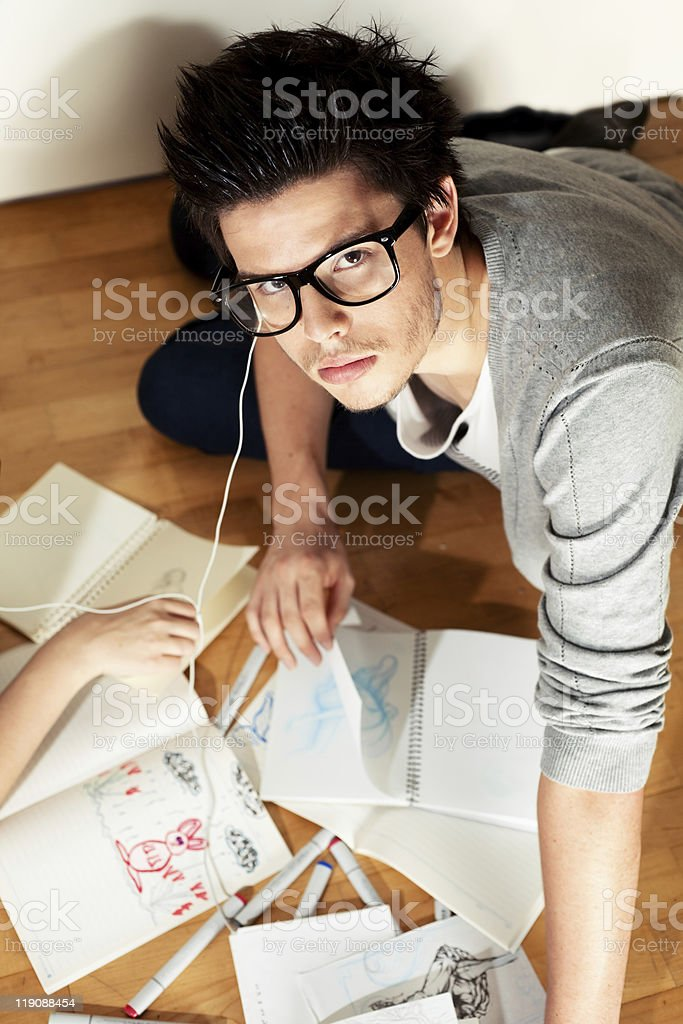 Study Hard royalty-free stock photo
