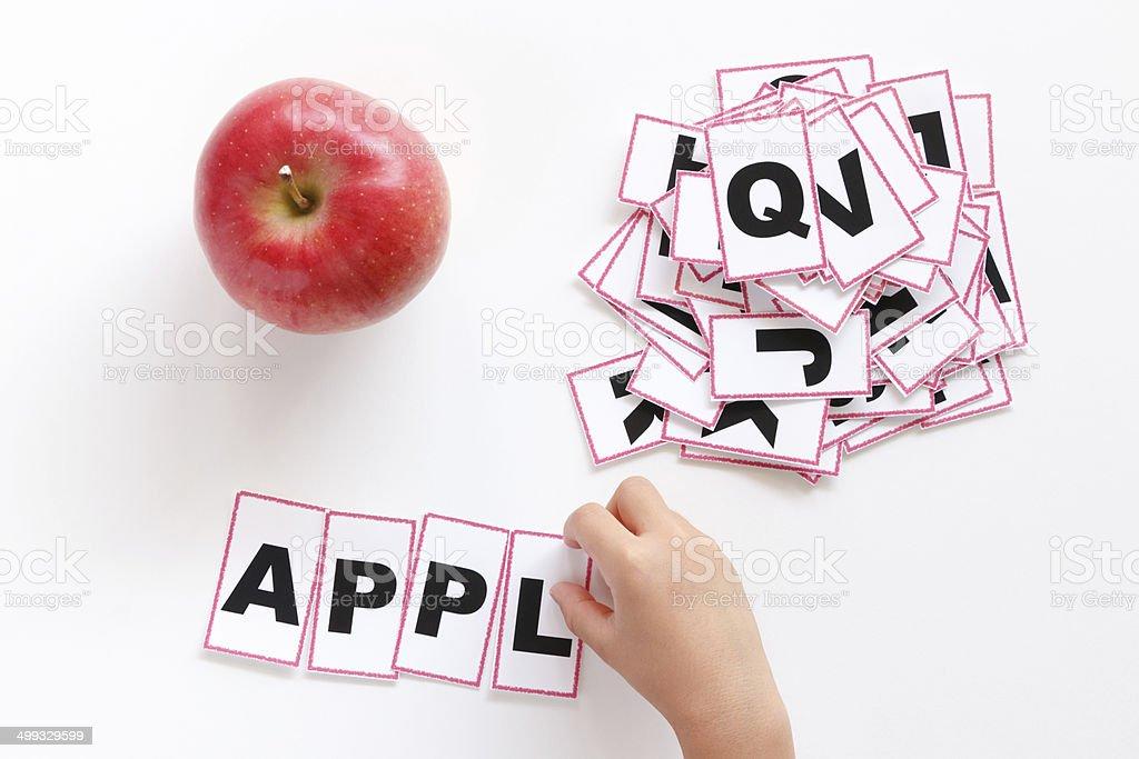 Study of English words stock photo