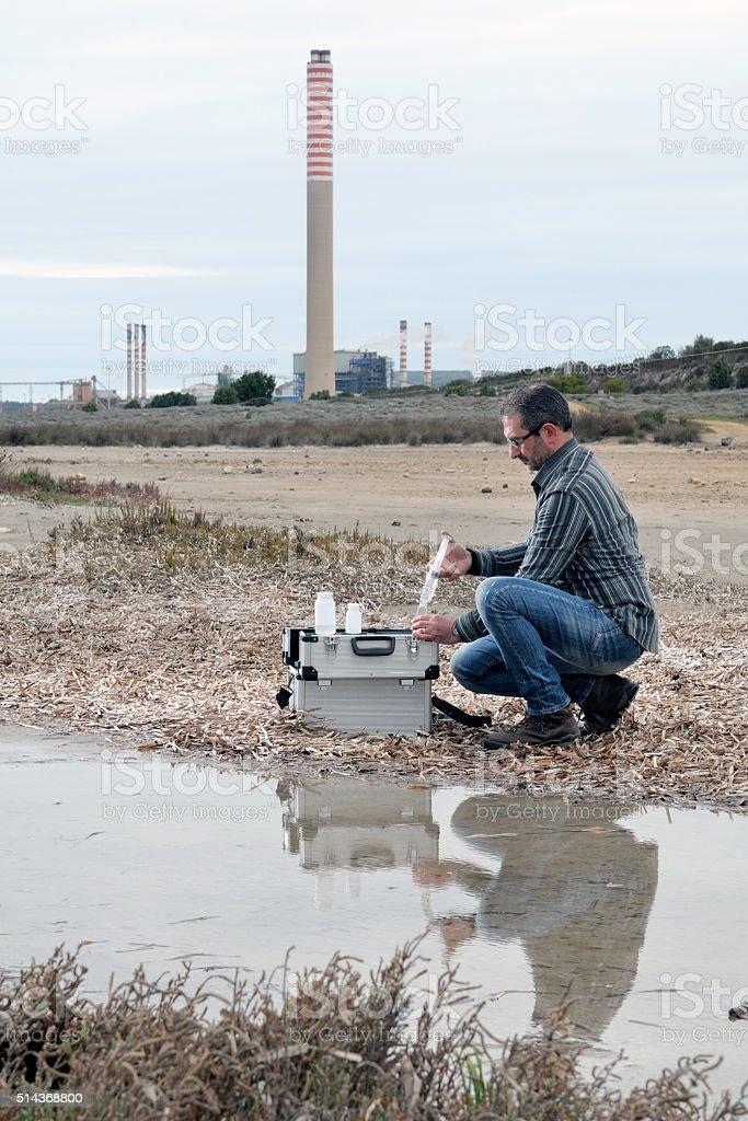 Study of environmental pollution stock photo