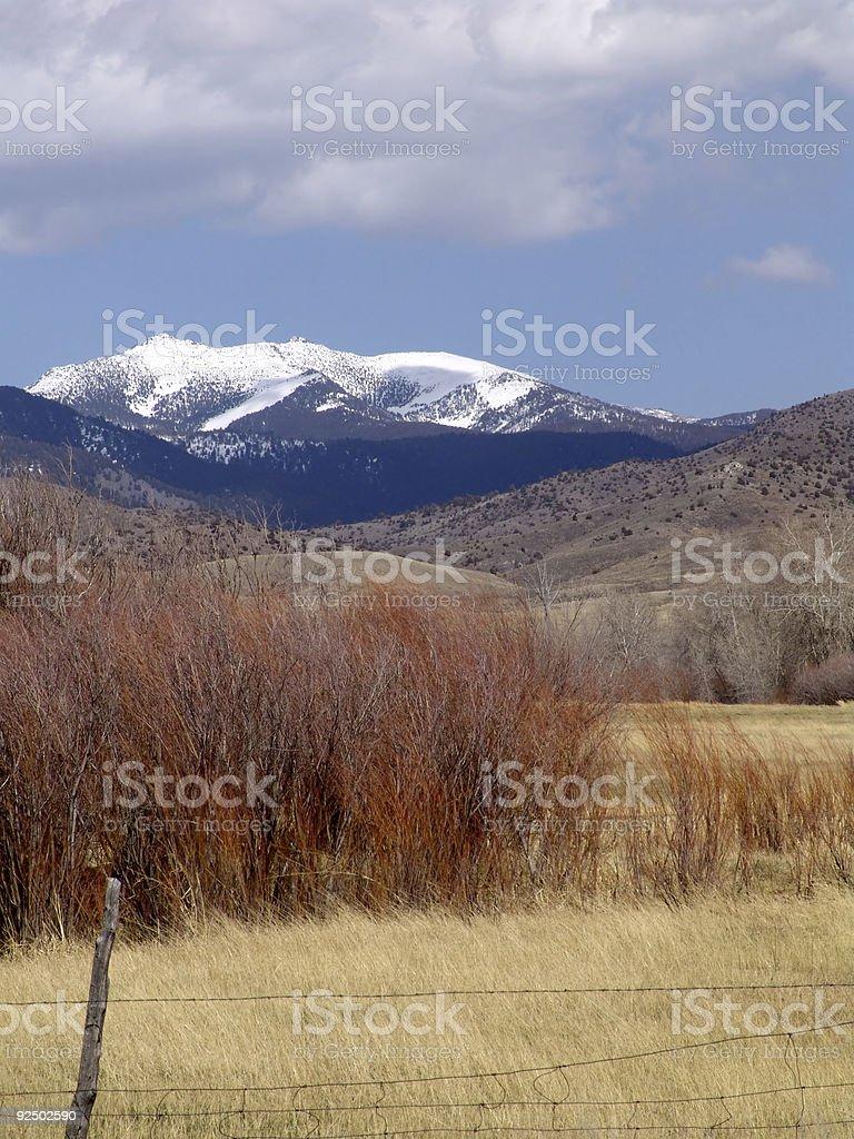 Study of Montana Colors royalty-free stock photo
