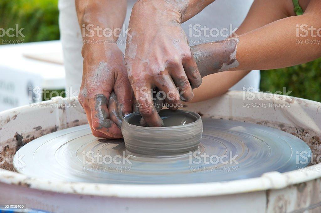 study of pottery stock photo