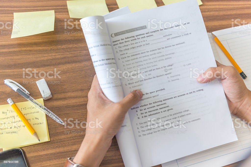 Study second language becomes more popular nowadays stock photo
