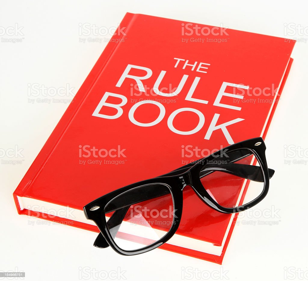 Study the Rule Book stock photo