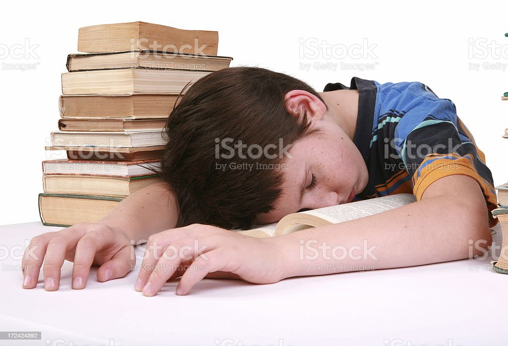 study troubles royalty-free stock photo