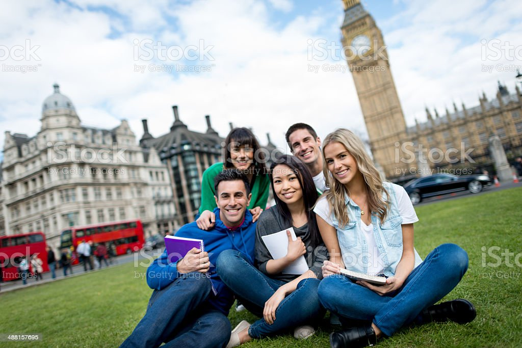 Studying abroad in London stock photo