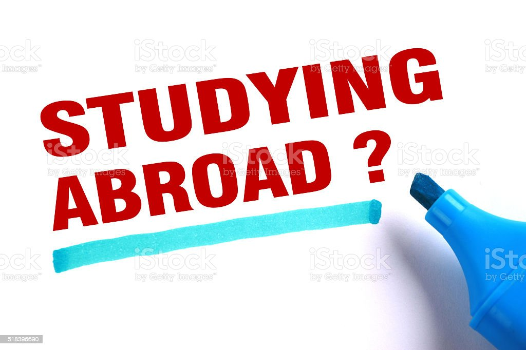 Studying Abroad stock photo