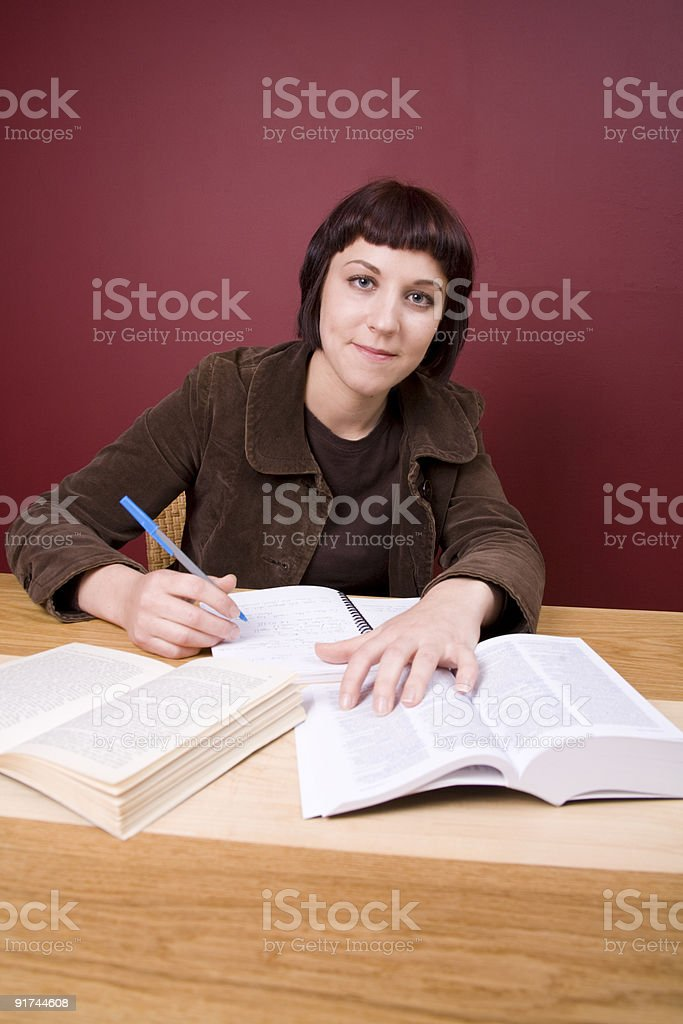 Studying at Home stock photo
