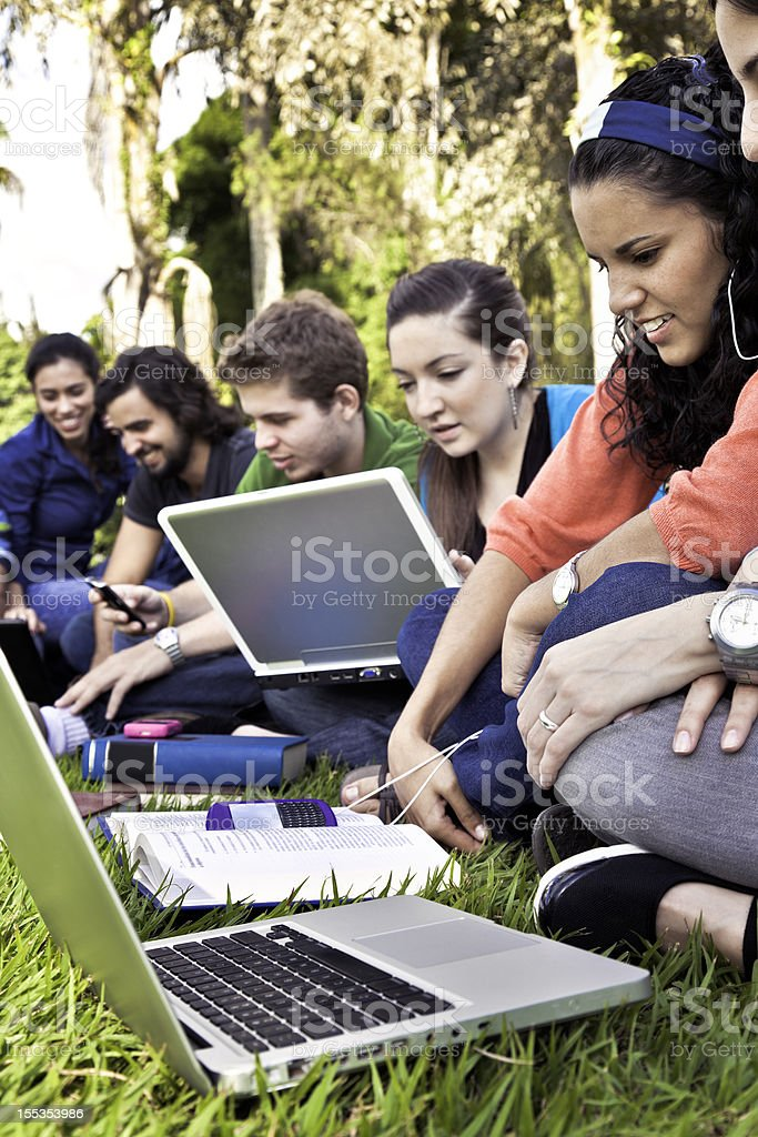 Studying at the Campus royalty-free stock photo
