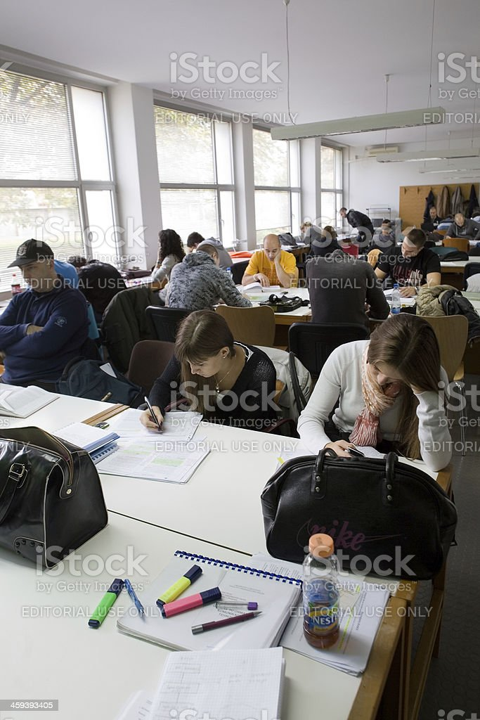 Studying for exams royalty-free stock photo