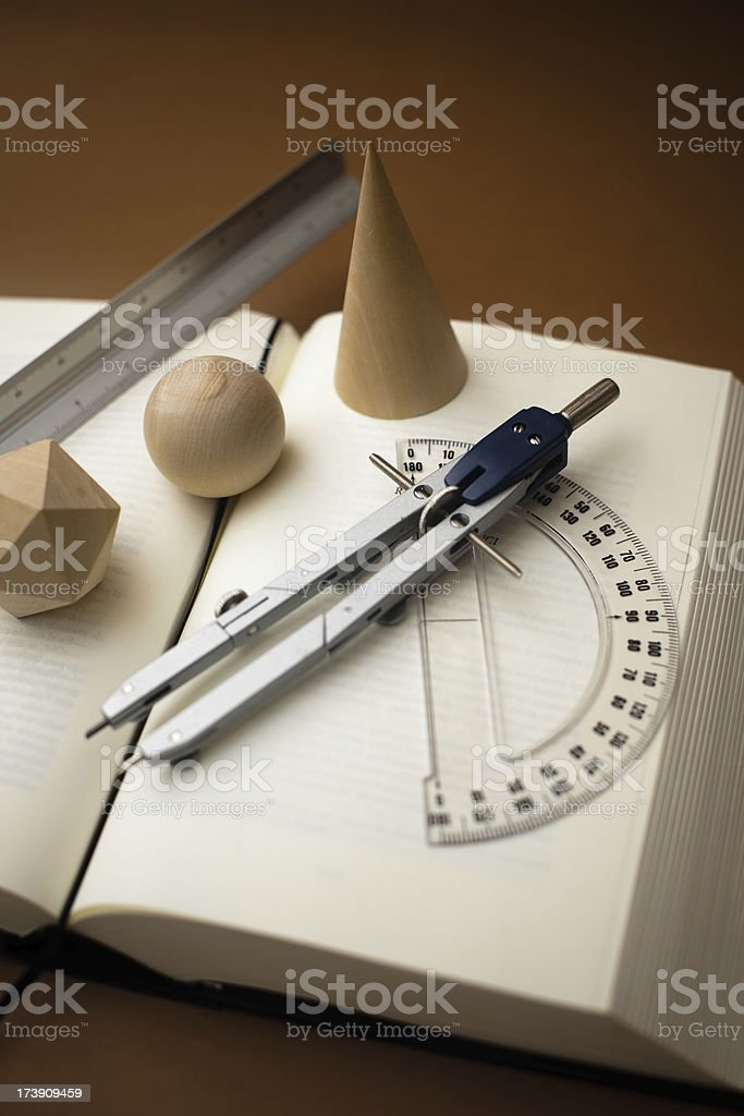 Studying geometry royalty-free stock photo