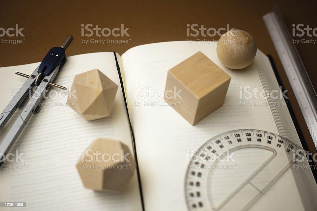 Studying geometry royalty-free stock photo