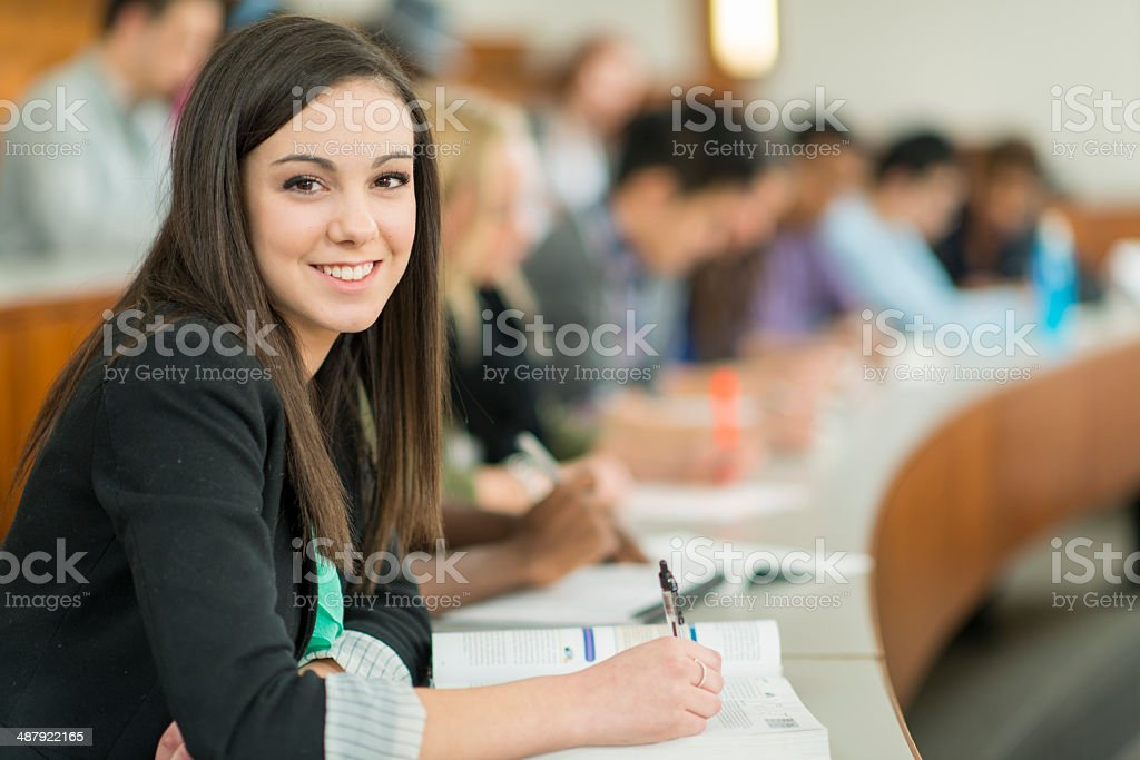 Studying stock photo