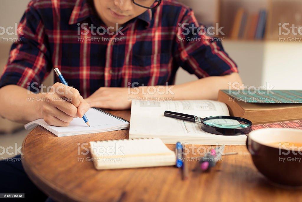 Studying stock photo