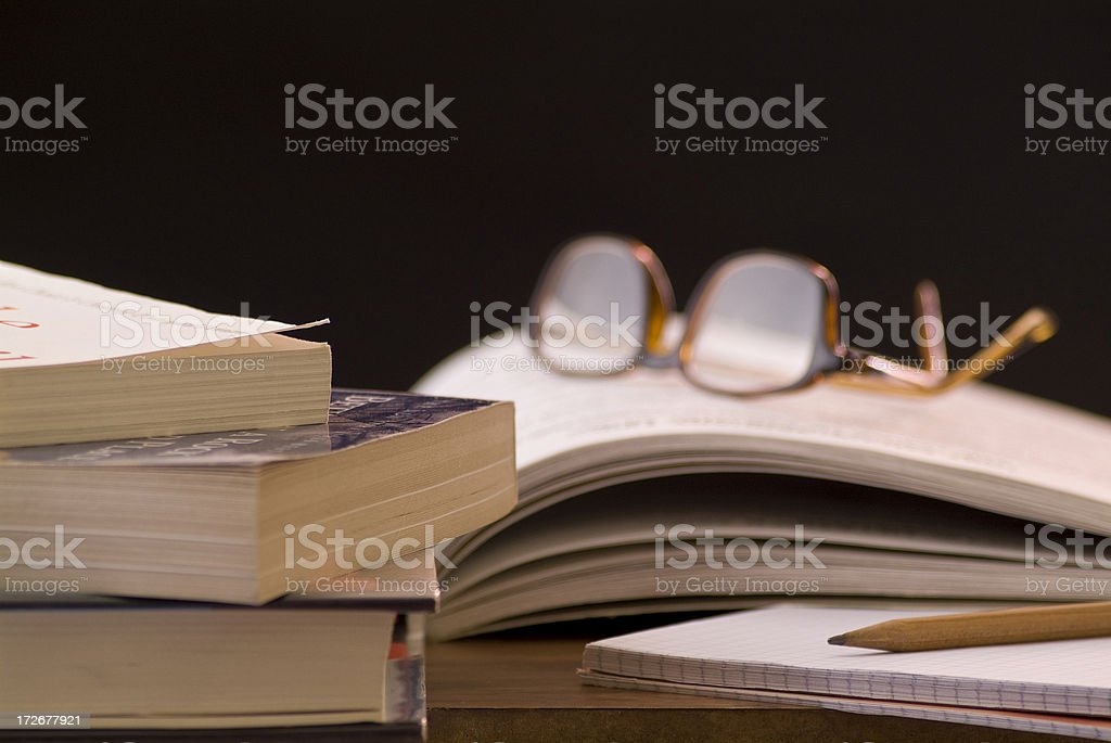 Studying Series royalty-free stock photo