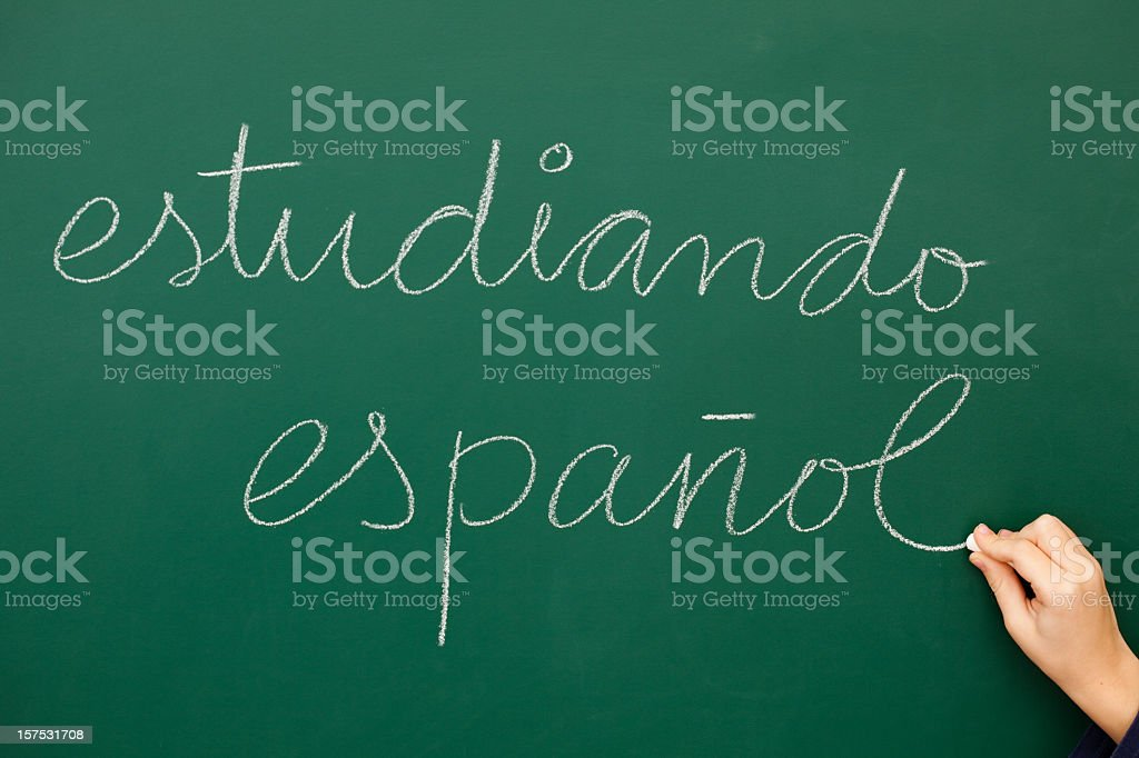 studying spanish royalty-free stock photo