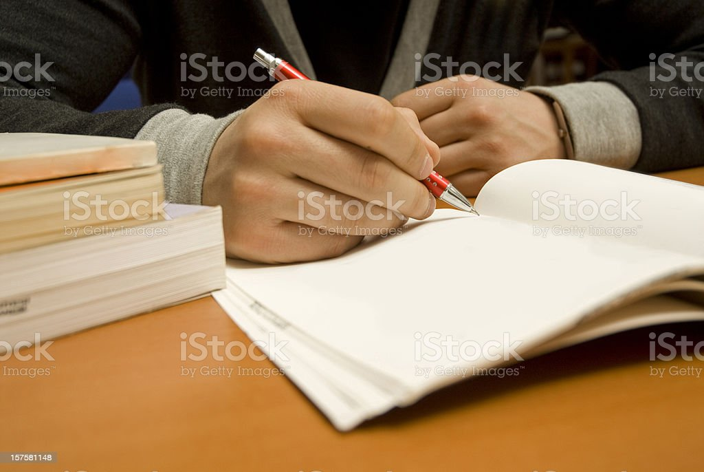 Studying Student stock photo