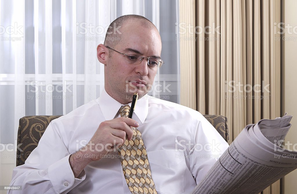 Studying the financials stock photo