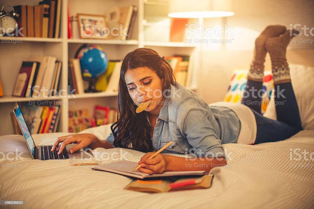 Studying time! stock photo