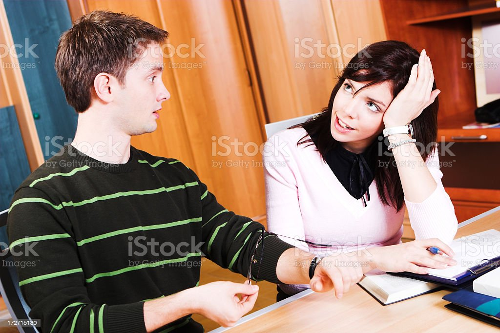 Studying together royalty-free stock photo