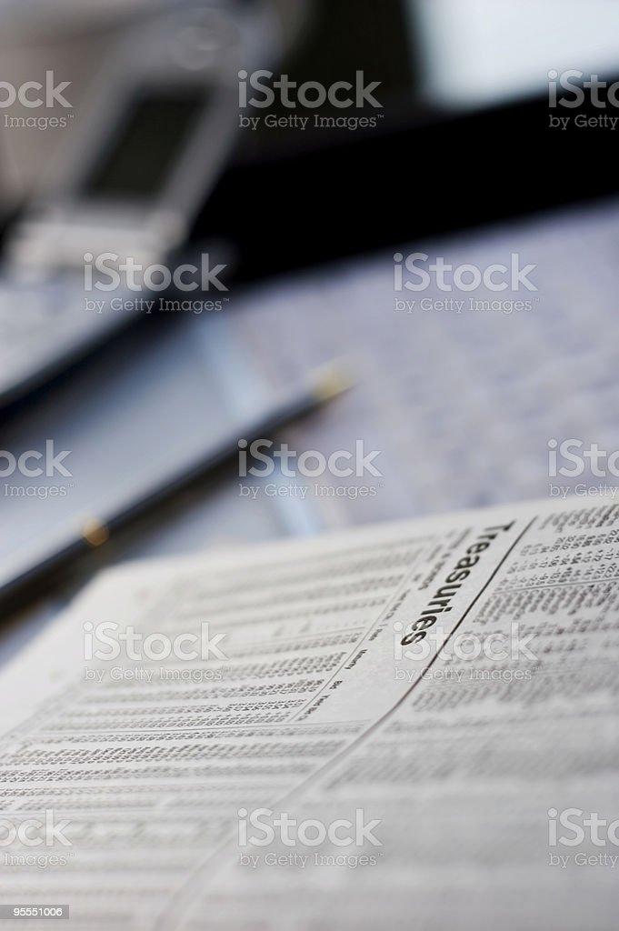 Studying treasuries stock photo