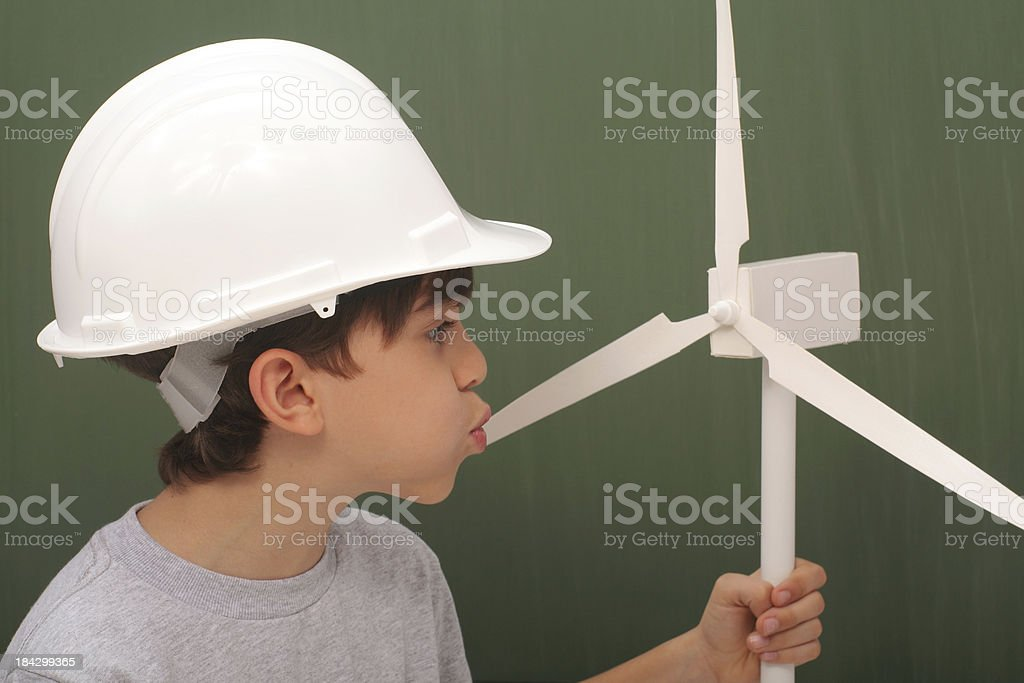 Studying Wind Power royalty-free stock photo