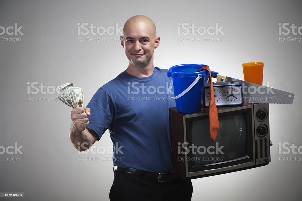 Stuff For Cash! stock photo