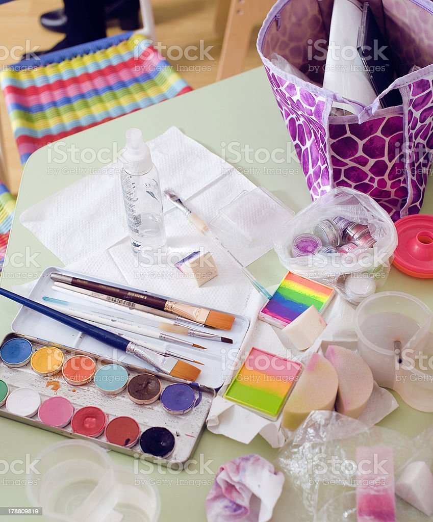stuff for face art royalty-free stock photo