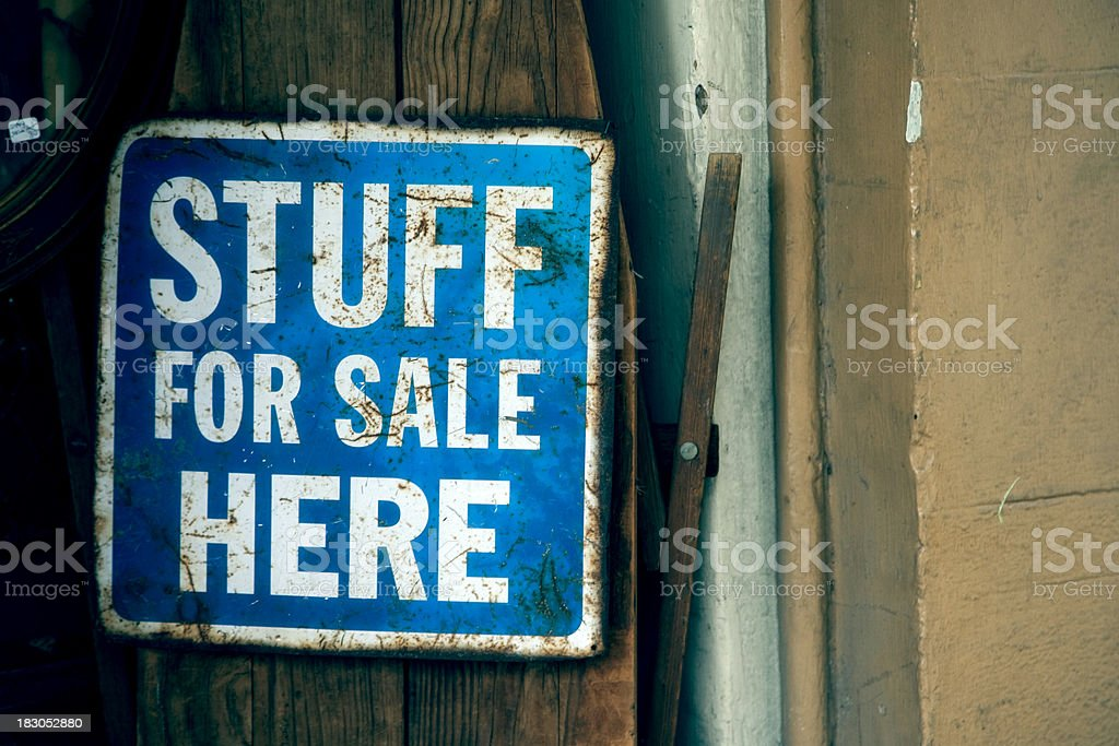 Stuff For Sale Sign in New Orleans French Quarter royalty-free stock photo