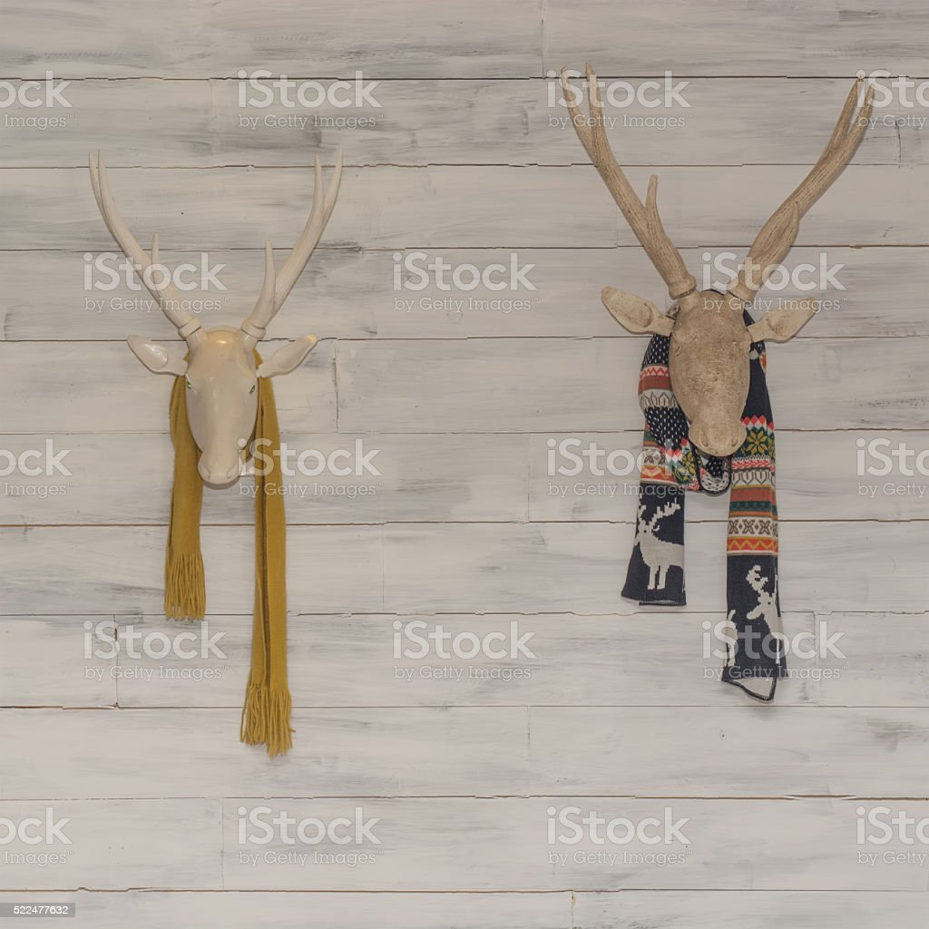 stuffed animal (Deer head) stock photo