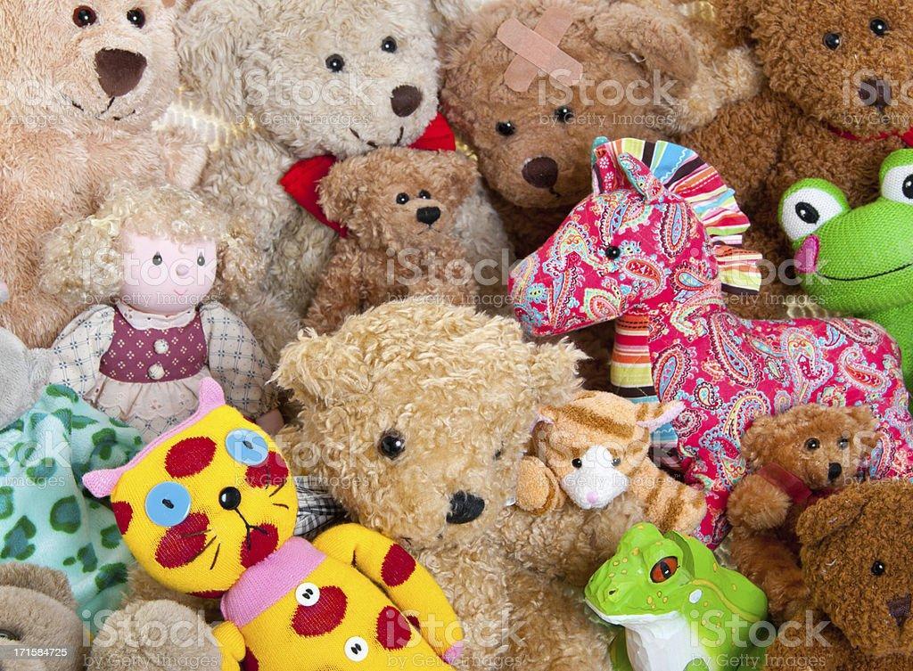 Stuffed Animals Background royalty-free stock photo