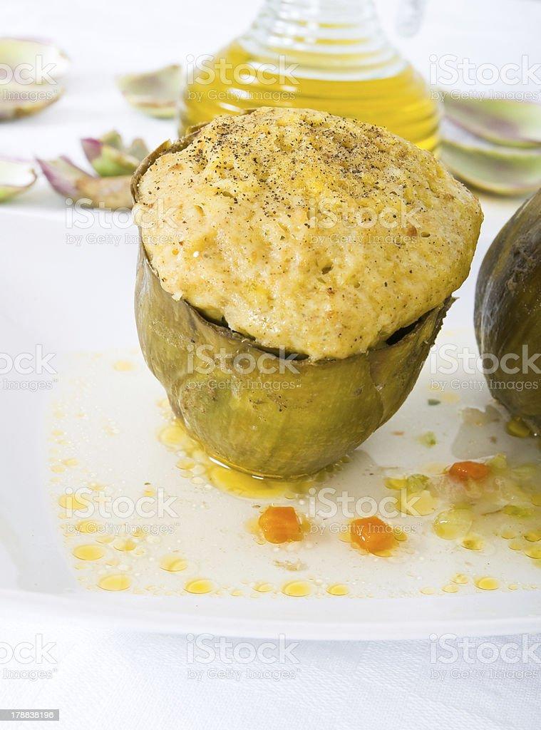 Stuffed artichokes. royalty-free stock photo
