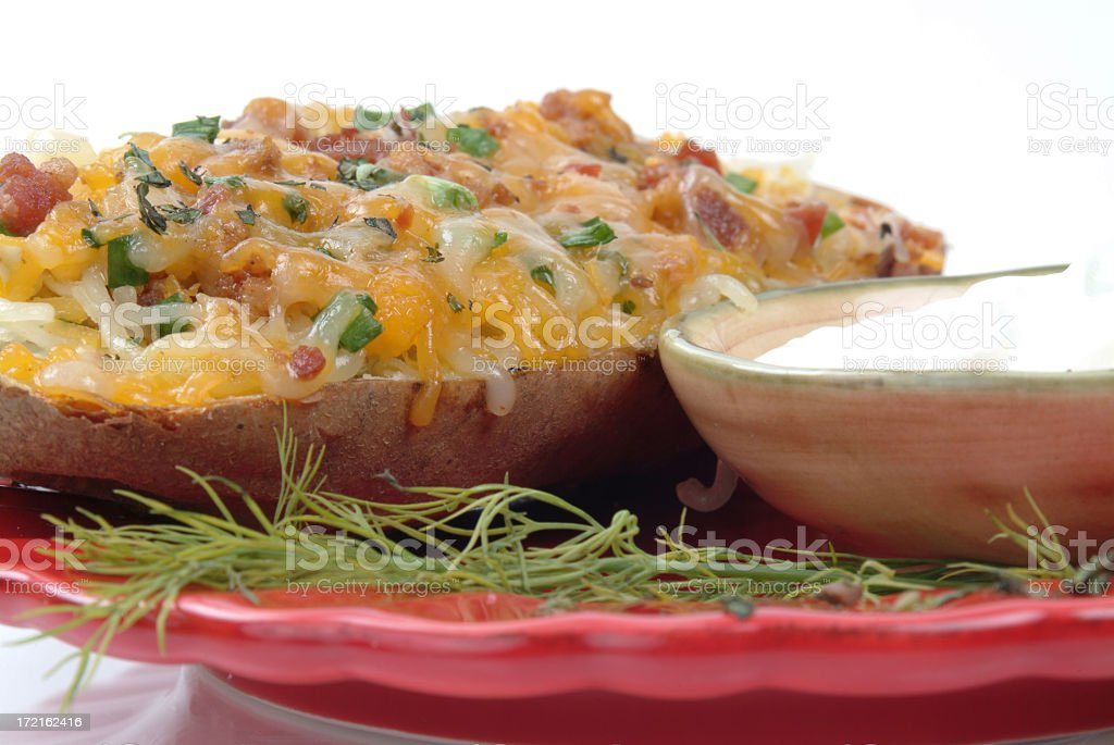 stuffed bake potatoe stock photo