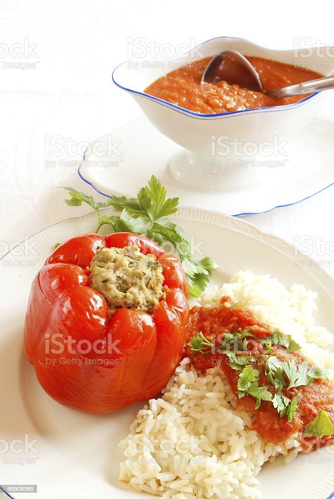 Stuffed bell pepper royalty-free stock photo