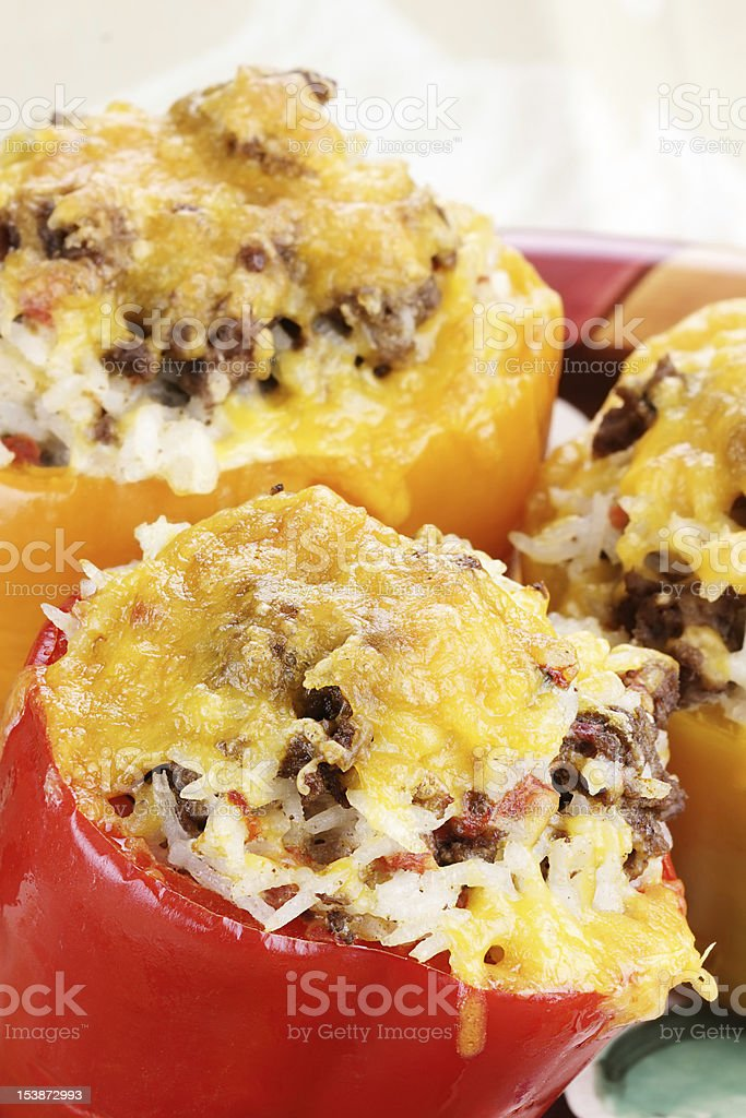 Stuffed Bell Peppers royalty-free stock photo