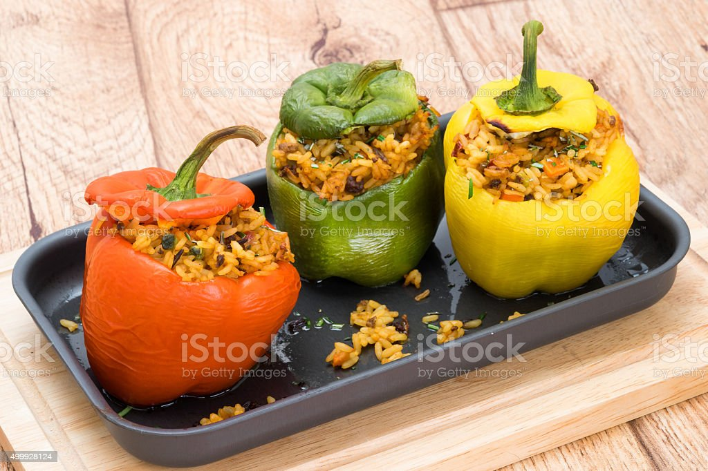 Stuffed Bell Peppers stock photo