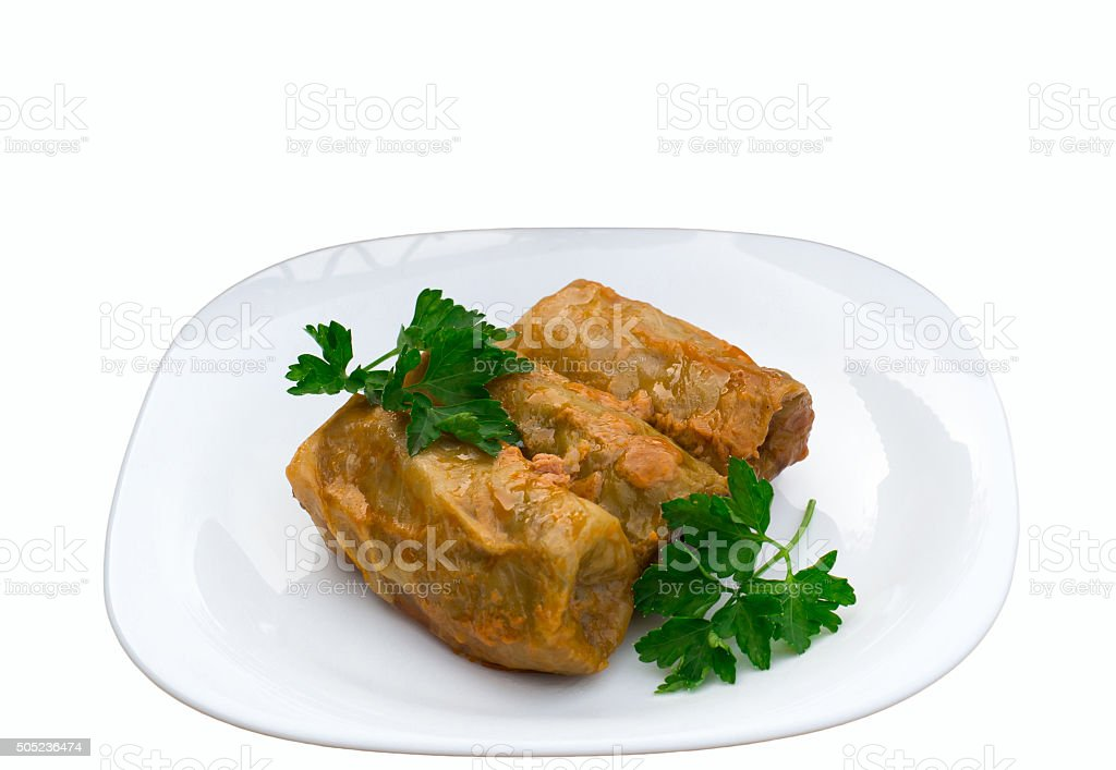 stuffed cabbage stock photo