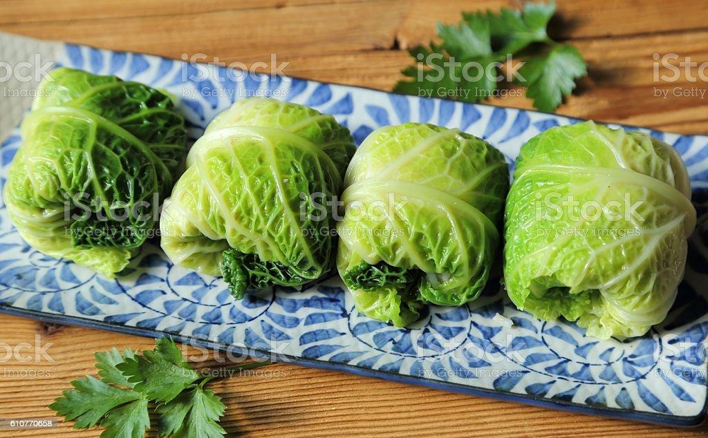 Stuffed cabbage. stock photo