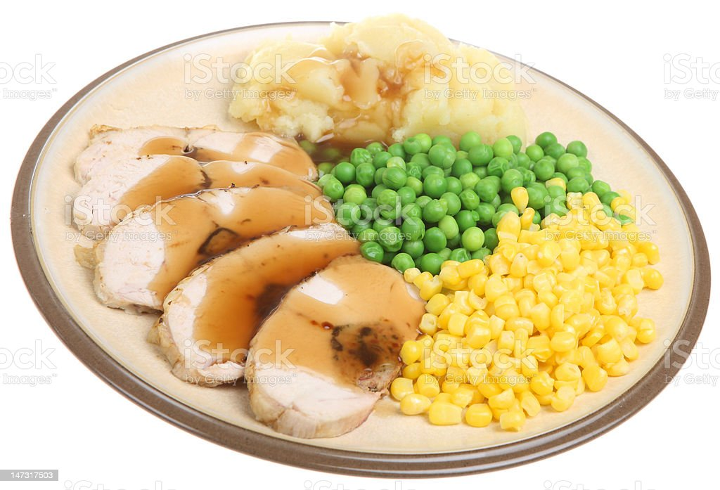 Stuffed Chicken Breast Dinner royalty-free stock photo