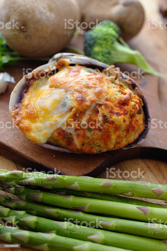 Stuffed Clam stock photo