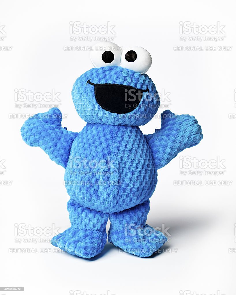 Stuffed Cookie Monster Toy royalty-free stock photo
