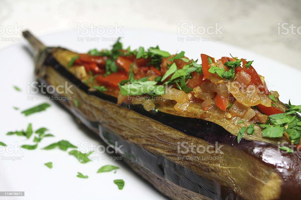 Stuffed Eggplant stock photo