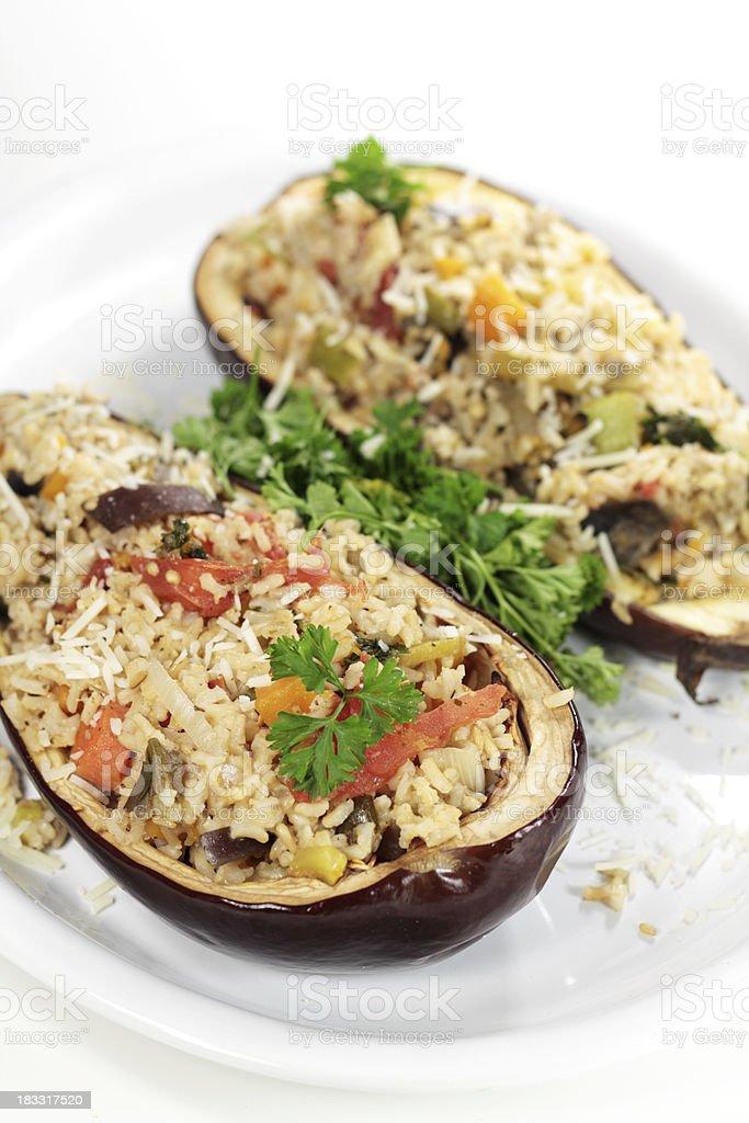 Stuffed eggplant royalty-free stock photo