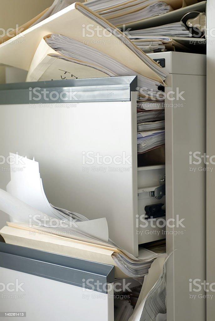 Stuffed File Cabinet stock photo