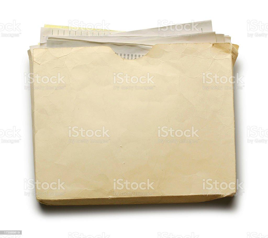 Stuffed File Folder royalty-free stock photo